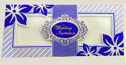 Islamic Wedding Invitation Designs A27 Blue