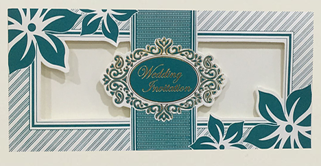 A27 Turquoise Indian Wedding Card