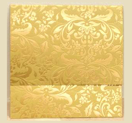 Best Indian Desi Wedding Invitation Cards H04 – Gold