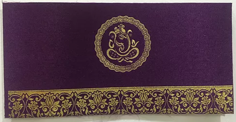 Hindu H06 Purple Ganesh
